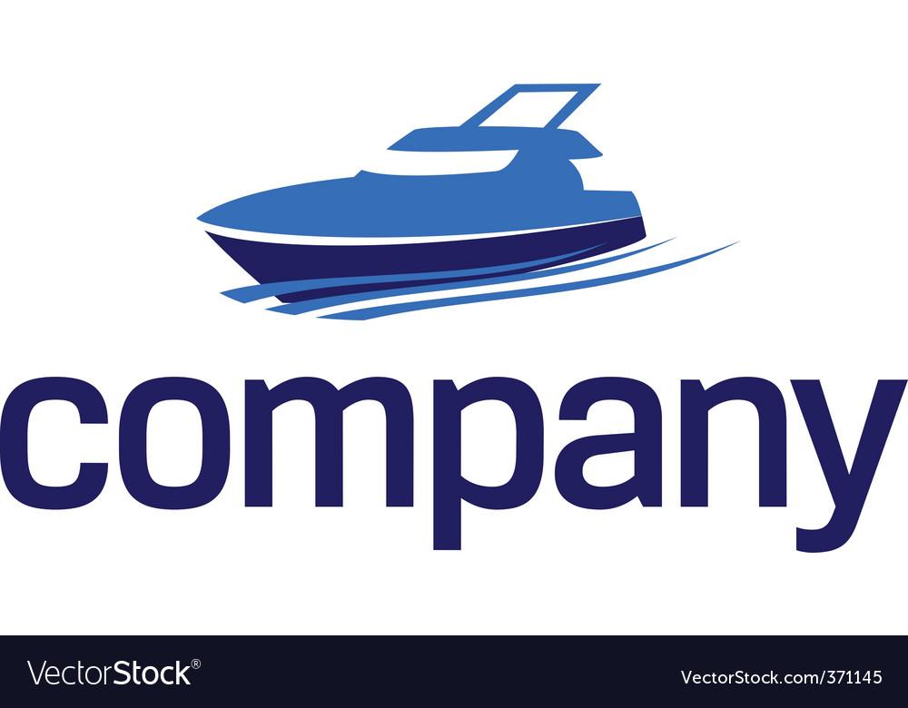 Yacht logo luxury lifestyle vector image
