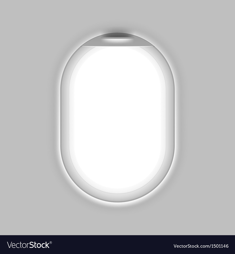Aircrafts window vector image