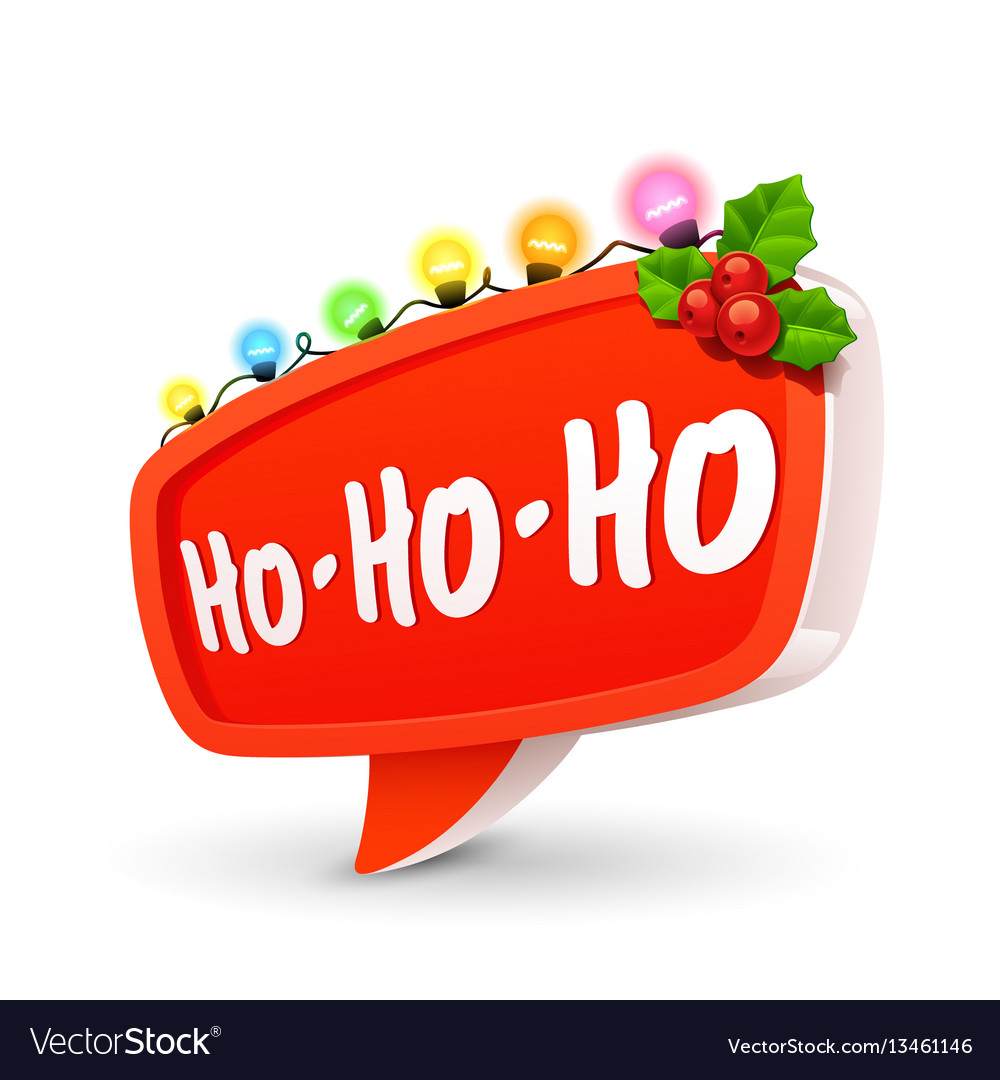 Christmas bubble for speech vector image