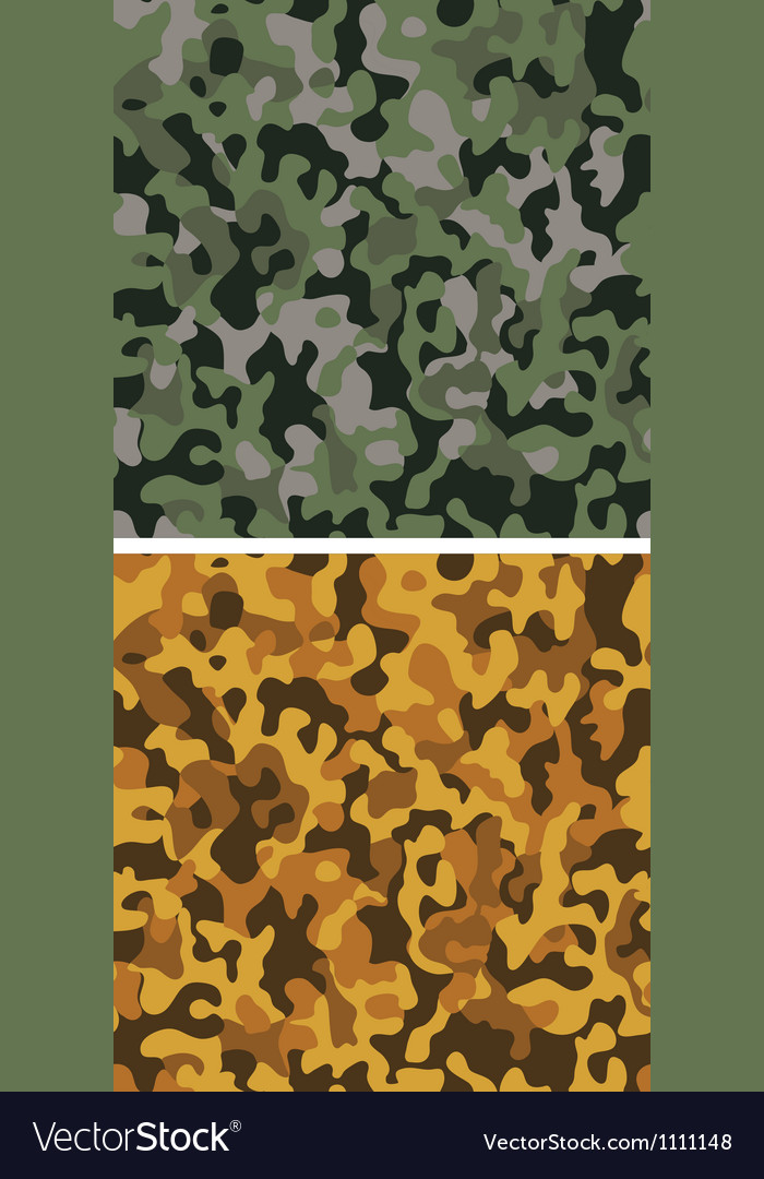 Set of camouflage seamless textures vector image