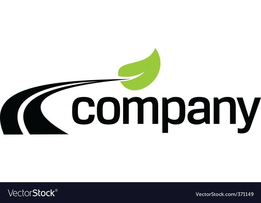 Eco fuel road logo design Vector Image