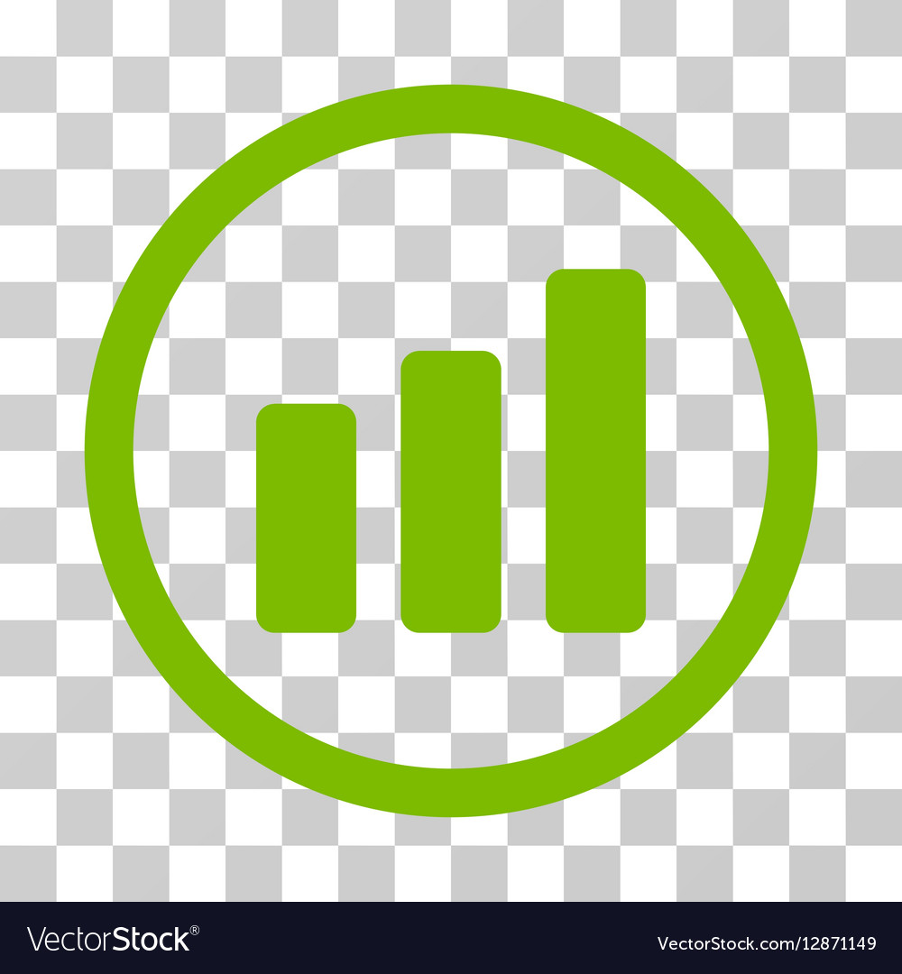 Bar Chart Increase Rounded Icon vector image