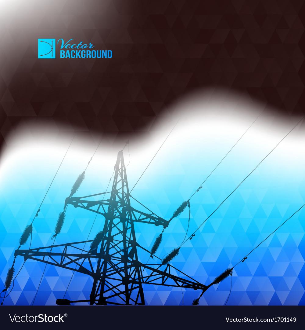 Industrial pylon abstraction vector image
