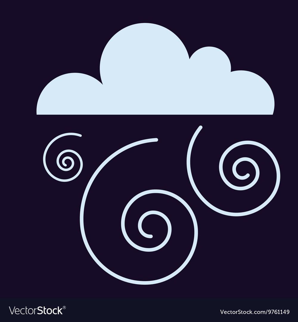 Storm cloud vector image