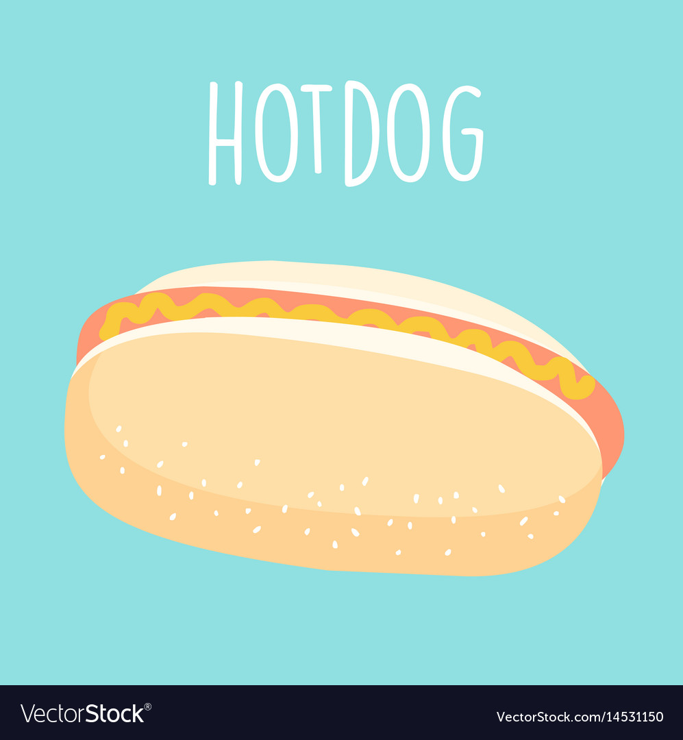 Fresh hot dog graphic vector image