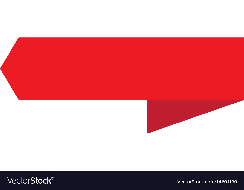 Red ribbon banner on white background red ribbon vector image