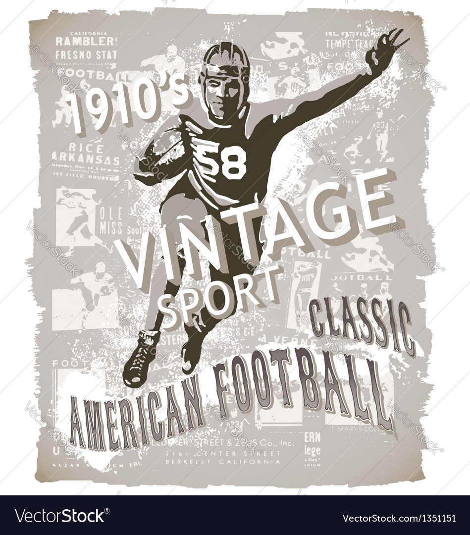 Classic american football vector image