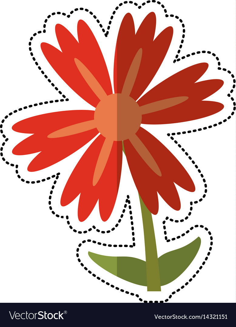 Cartoon lily flower natural royalty free vector image cartoon lily flower natural vector image izmirmasajfo