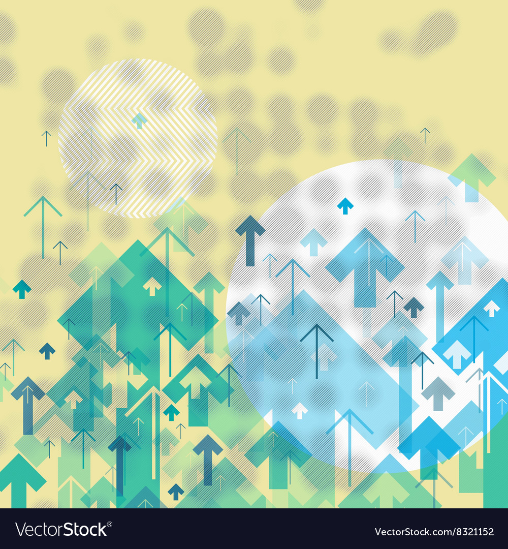 Science or Business Abstract Background Arrows Up vector image