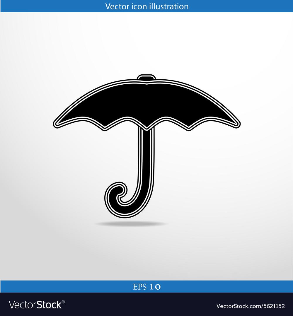 Umbrella web icon vector image