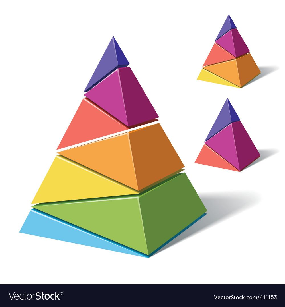 Layered pyramids vector image