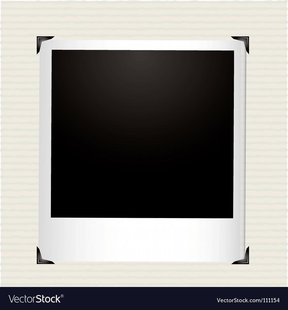 Polaroid photo vector image