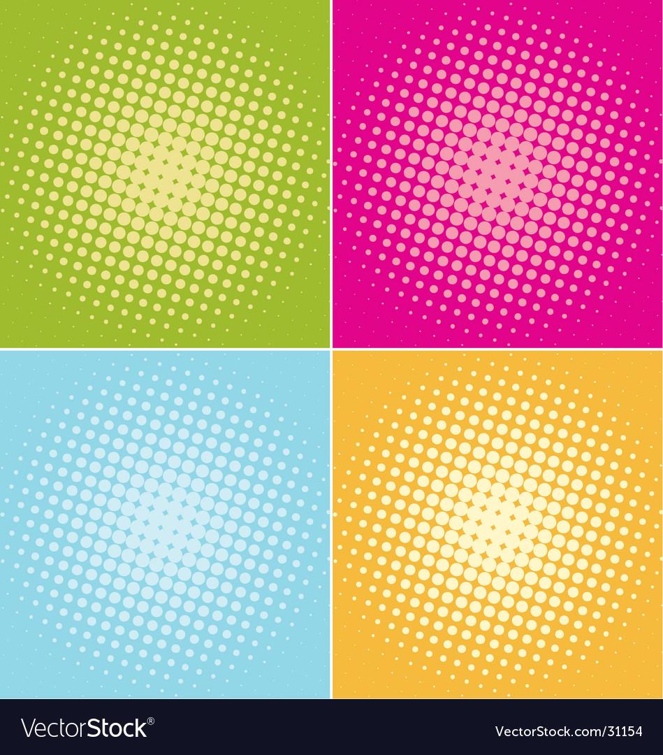 Halftone-dots vector image