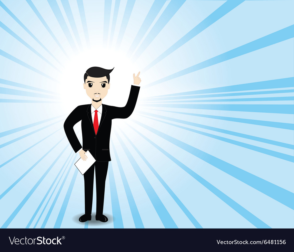 Businessman thinking work plan Business concept vector image