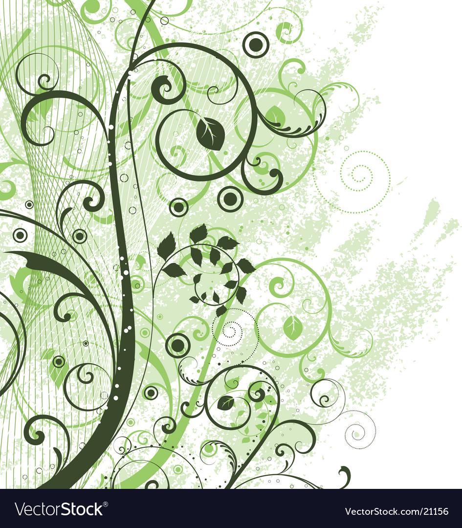 Floral grunge vector image