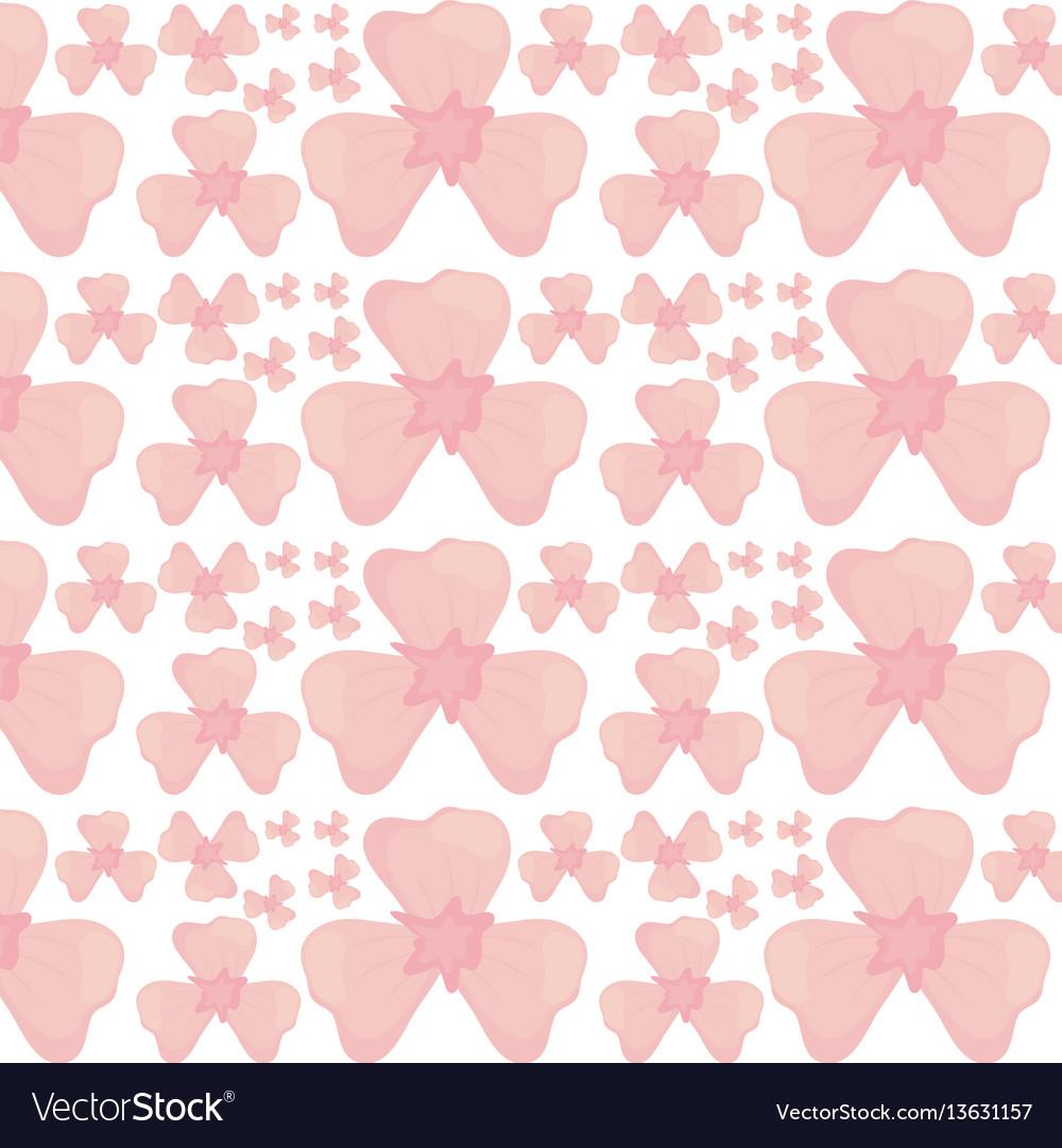 Flower petal seamless pattern design vector image