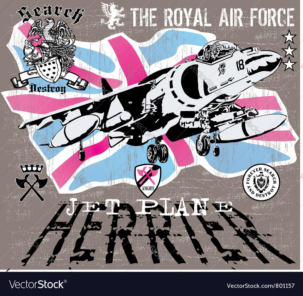 Herrier jet vector image
