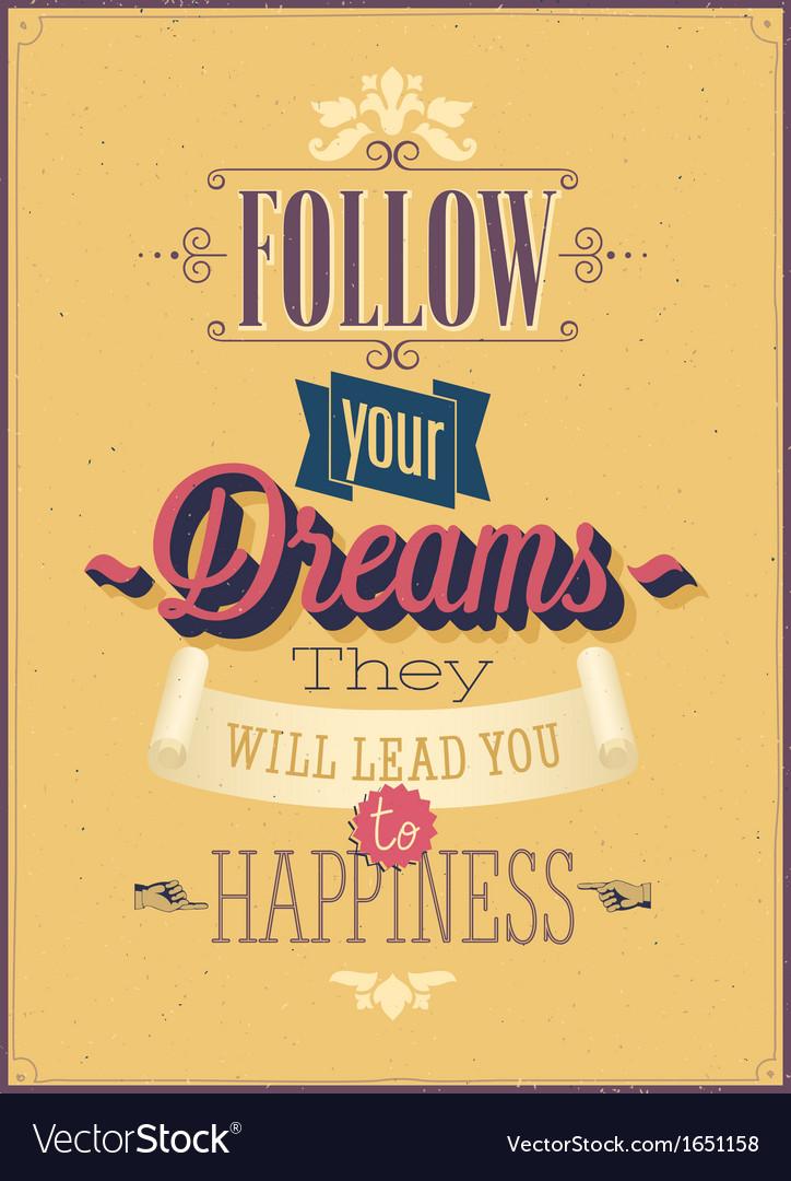 Dreams vector image