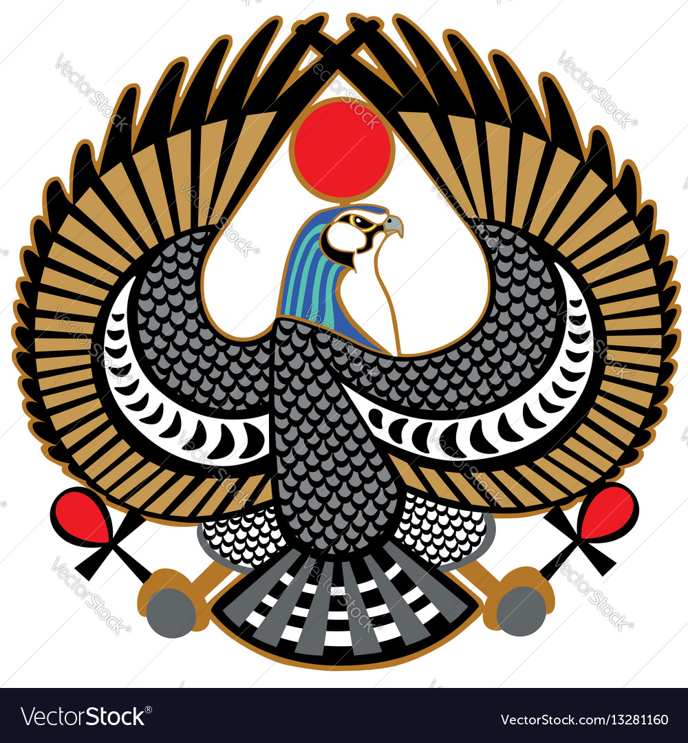Falcon symbol of horus vector image