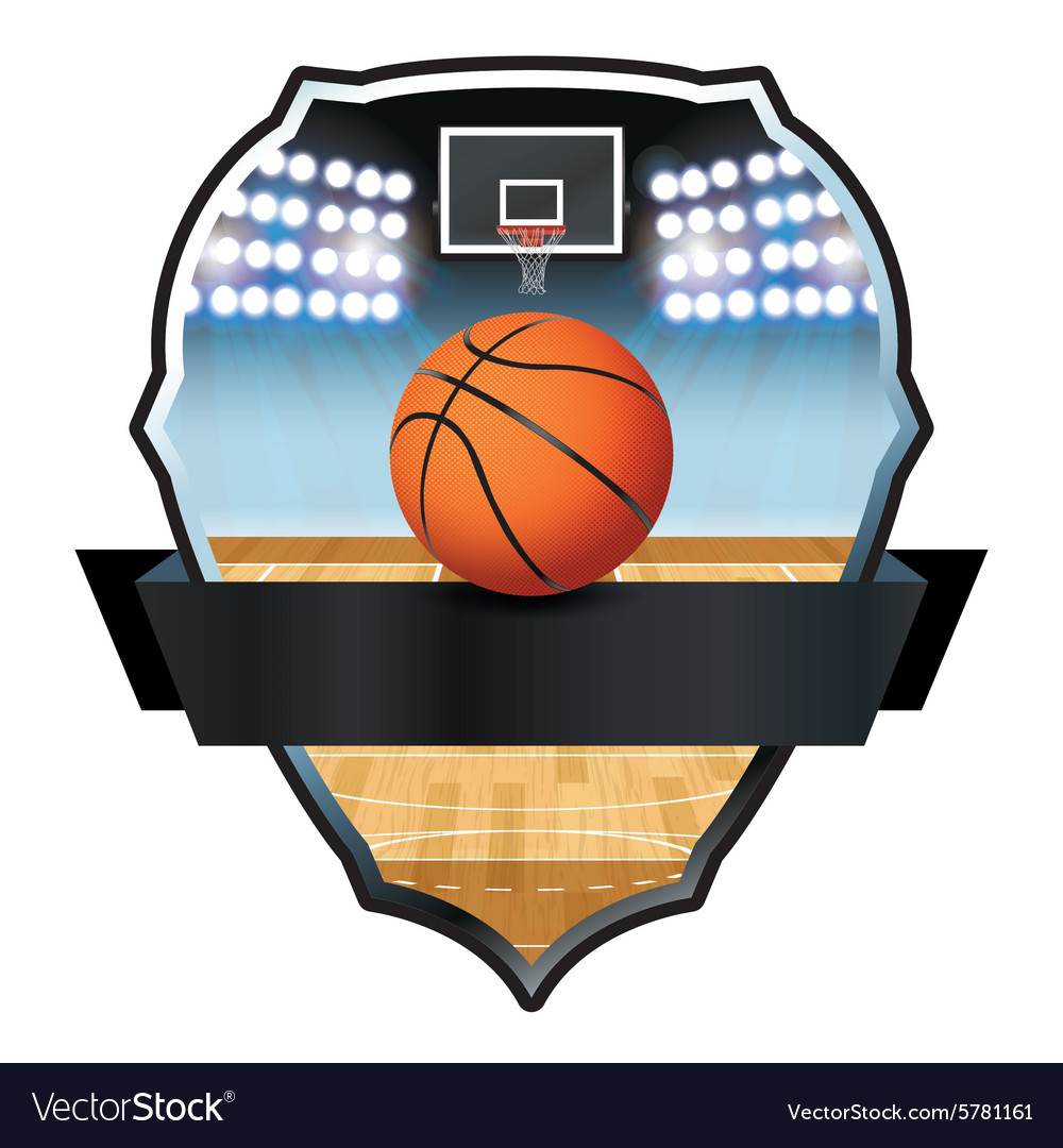 Basketball Badge vector image