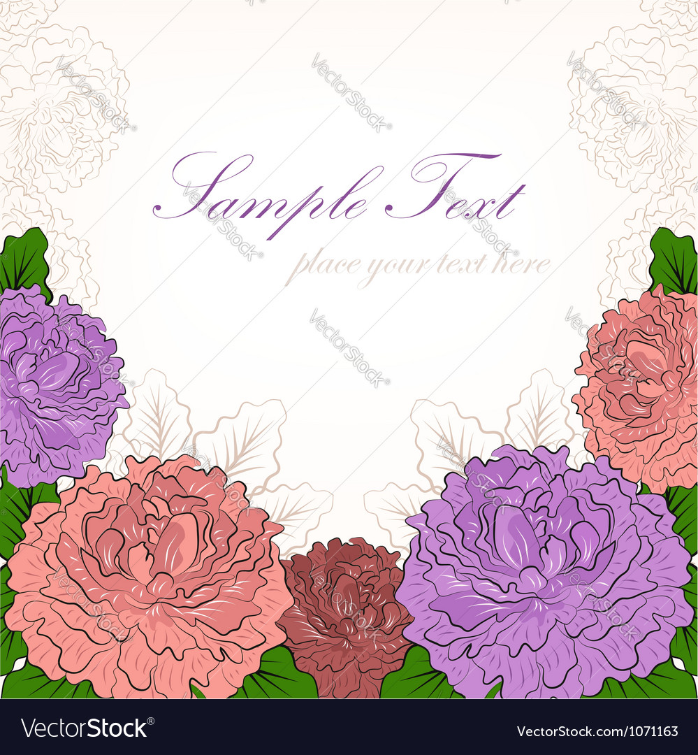 Abstract background with peonies vector image