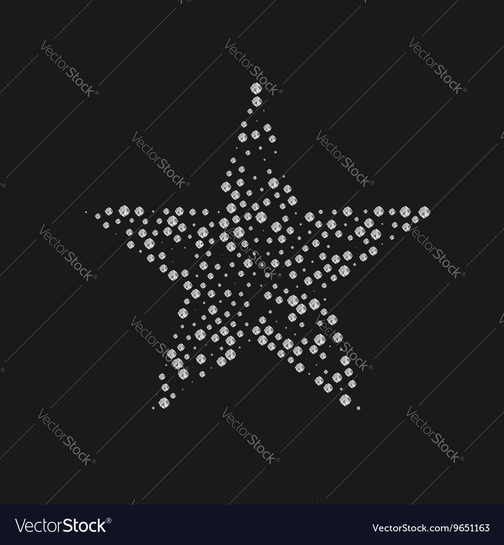 Diamonds luxury star vector image