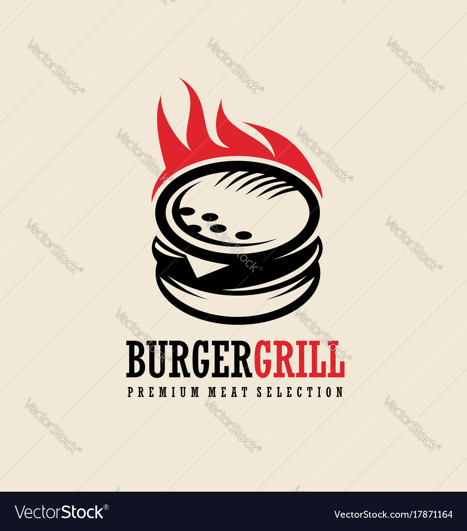 Burger logo design idea vector image