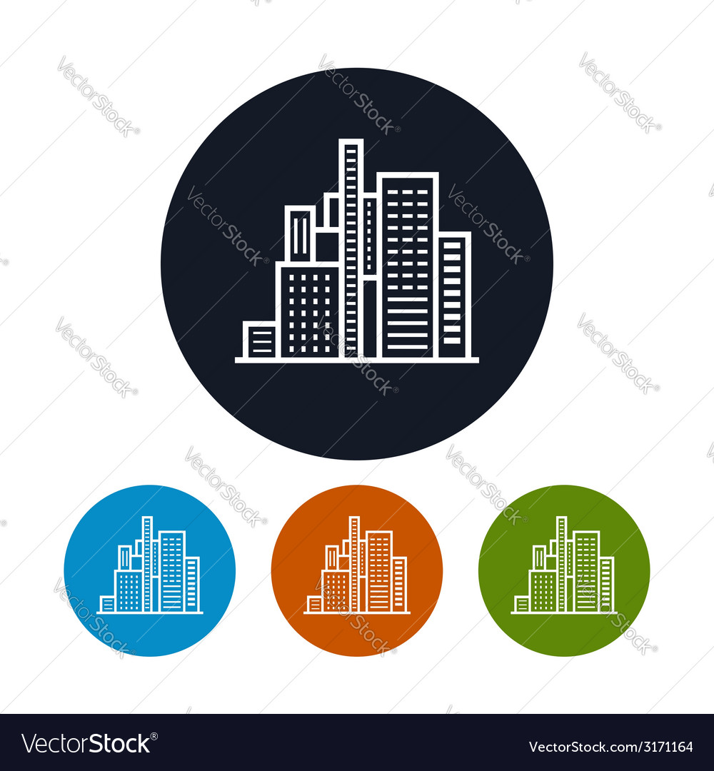 Business center icon city icon vector image