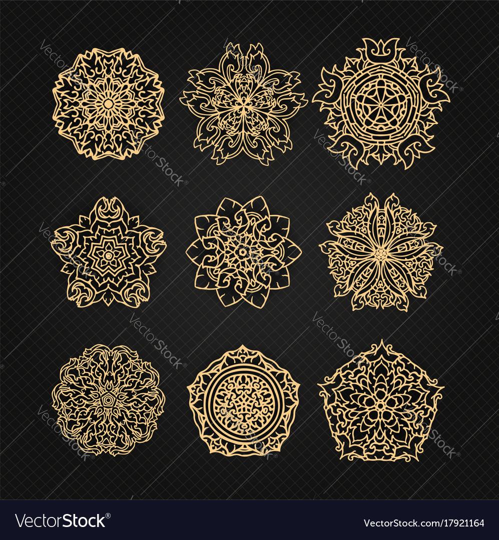 Design elements graphic thai design vector image