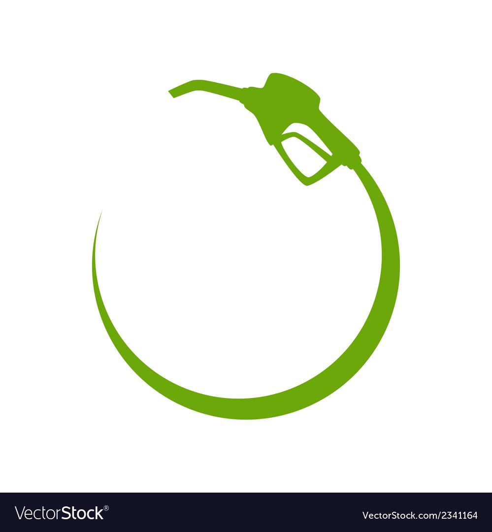 Green gas pump icon vector image