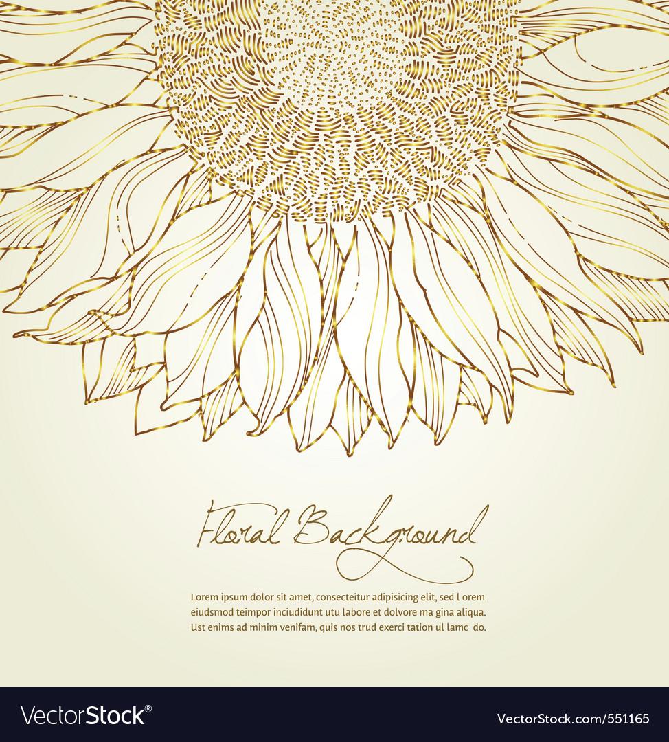 Floral sunflower background vector image