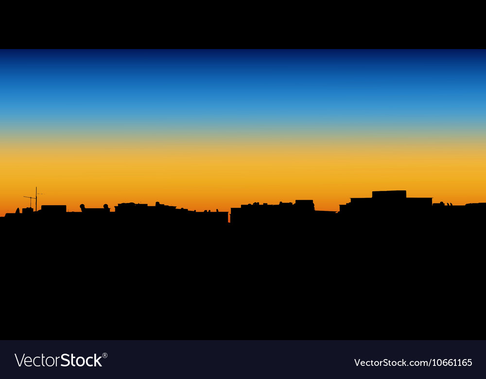 Night City of apartment vector image
