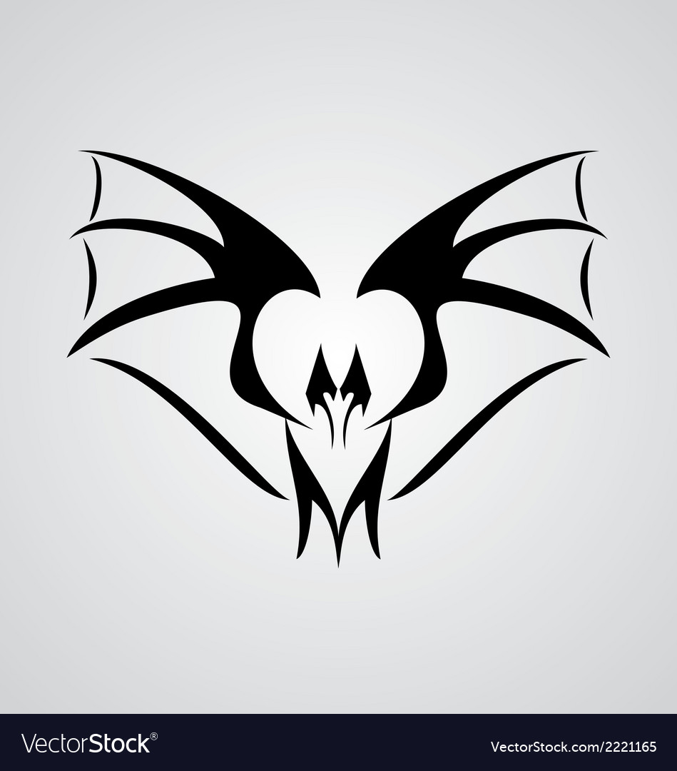 tribal bat royalty free vector image vectorstock