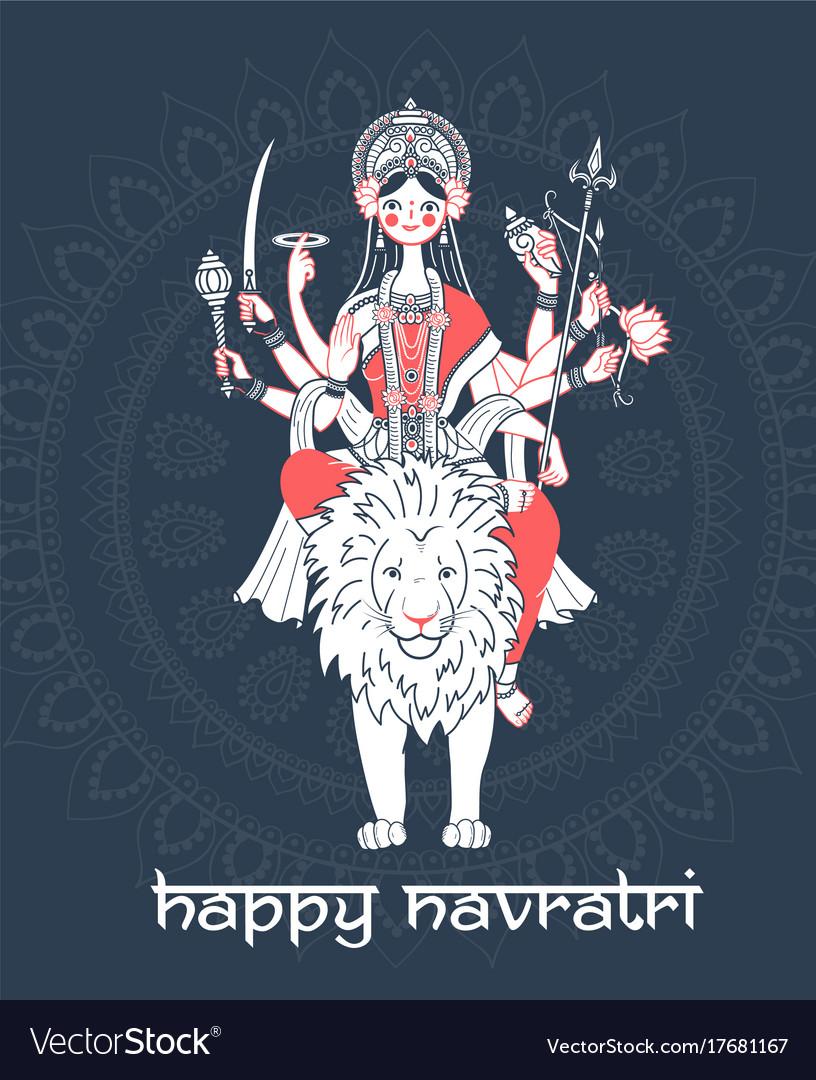 Greeting card navratri royalty free vector image greeting card navratri vector image kristyandbryce Choice Image