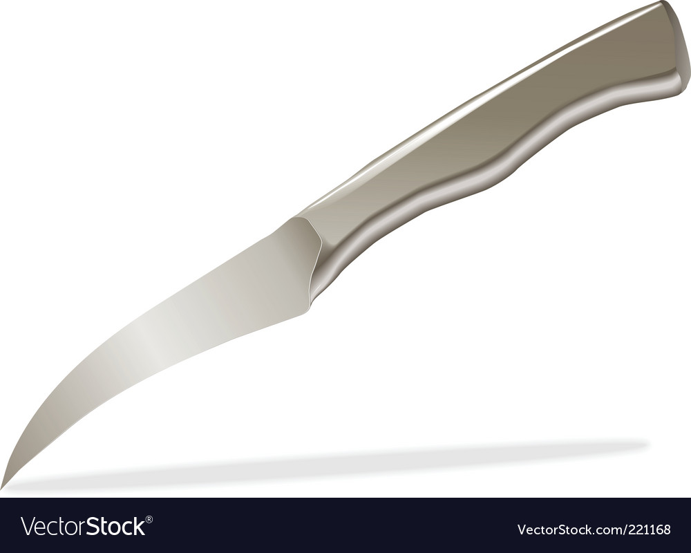 Kitchen Knife Vector Kitchen Tourney Knife Royalty Free Vector Image