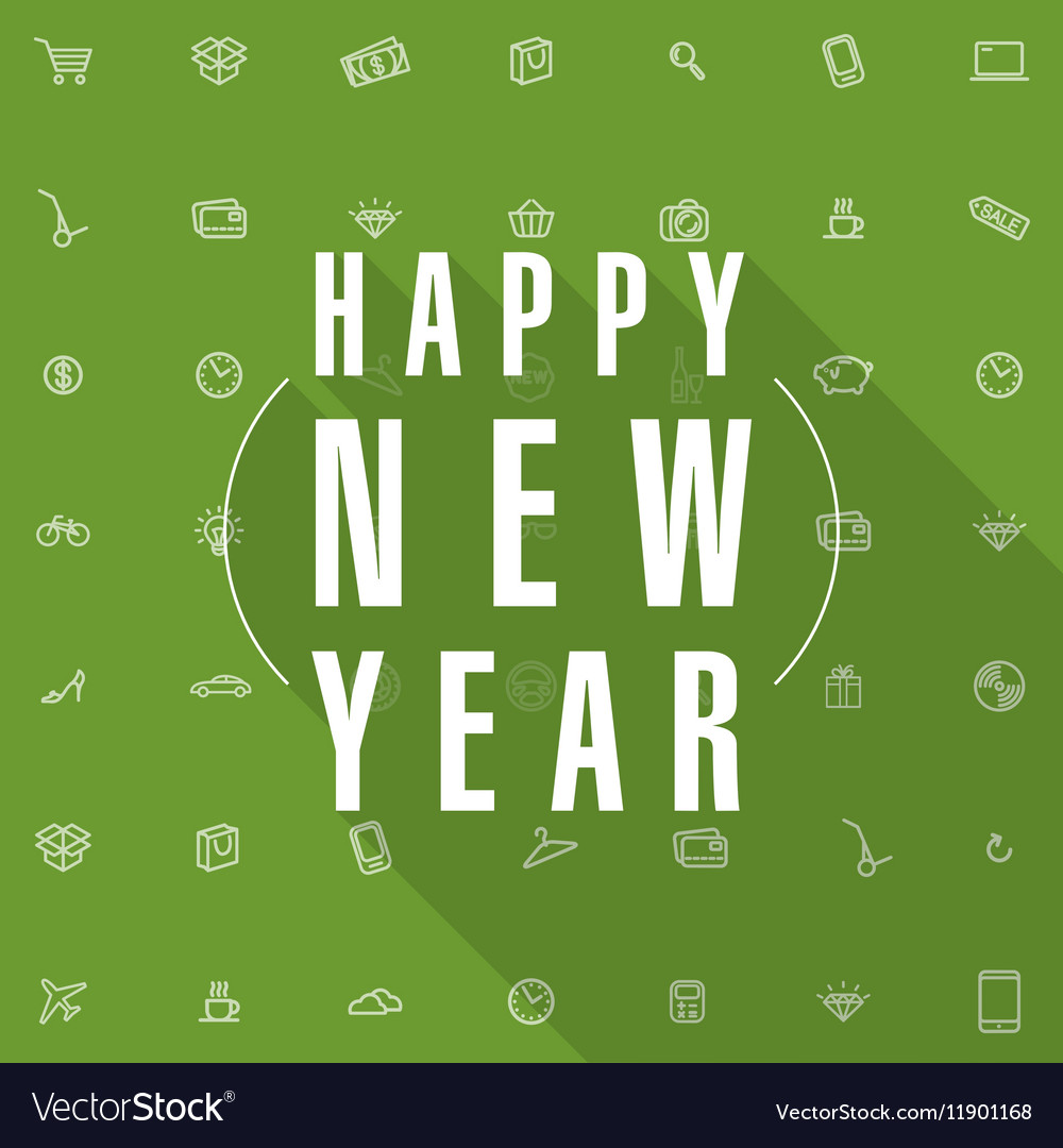 New year shopping card template vector image