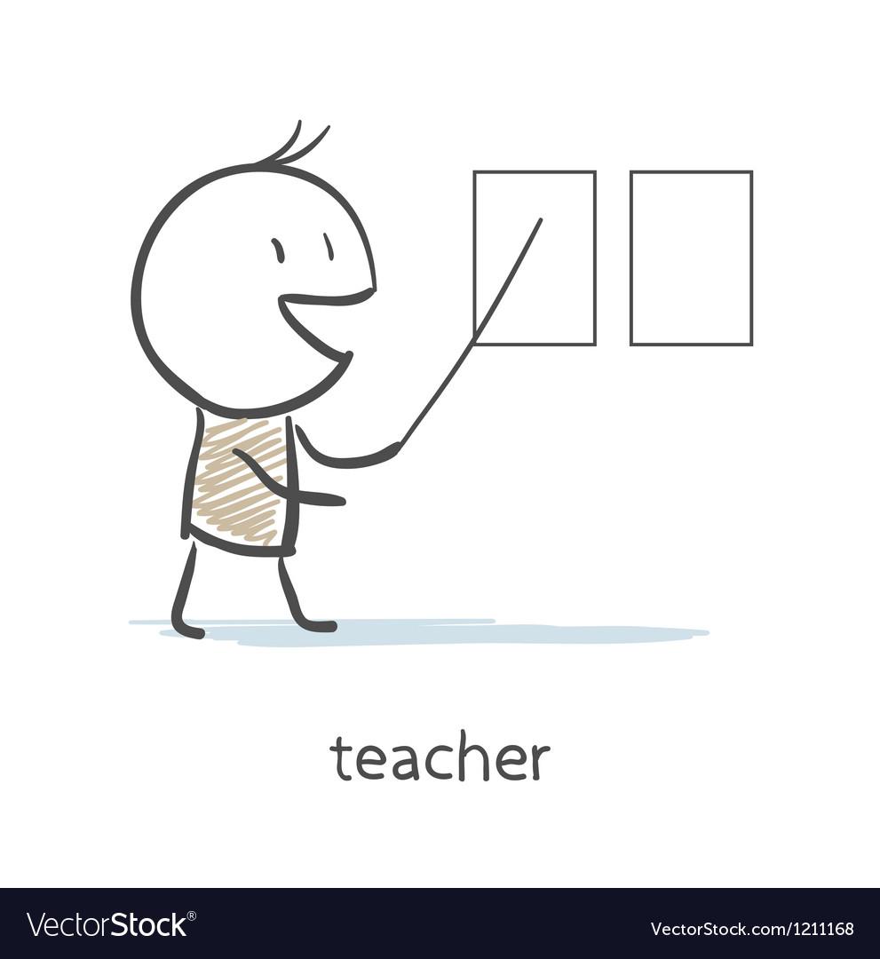 Teacher vector image