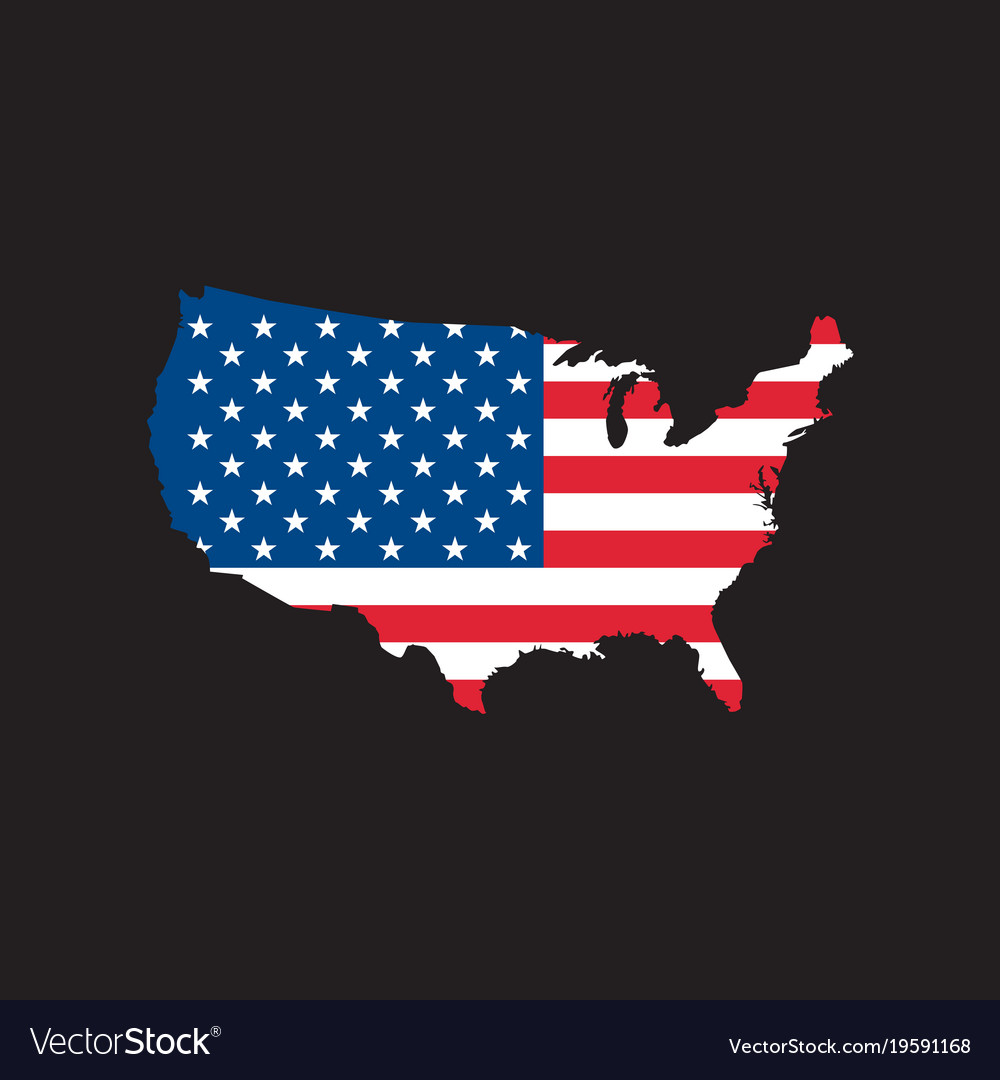 Usa map icon royalty free vector image vectorstock usa map icon vector image sciox Choice Image