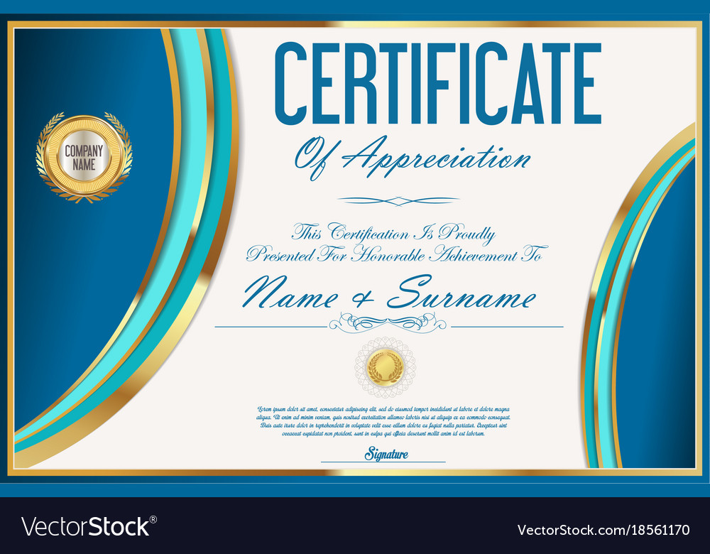 Certificate template retro design 05 royalty free vector certificate template retro design 05 vector image yadclub Gallery