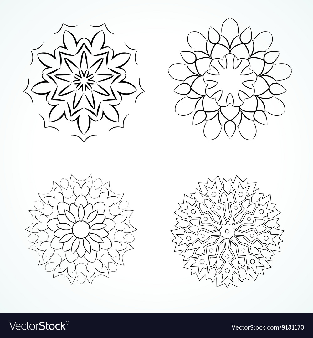Ornamental round vector image