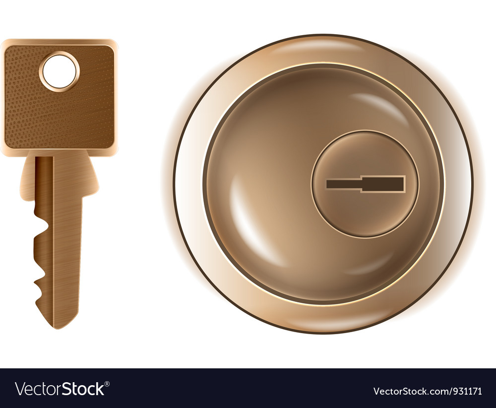 Keyhole and key vector image