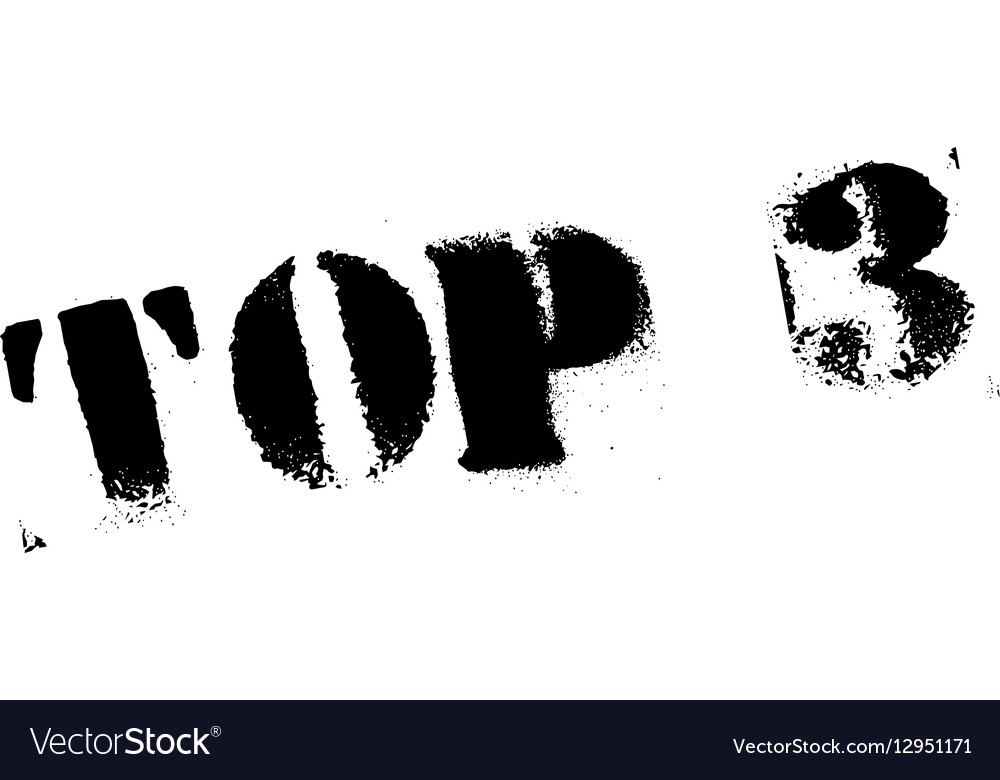 Top 3 rubber stamp vector image