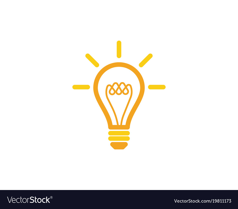 Awesome Light Bulb Symbol Logo Template Vector Image