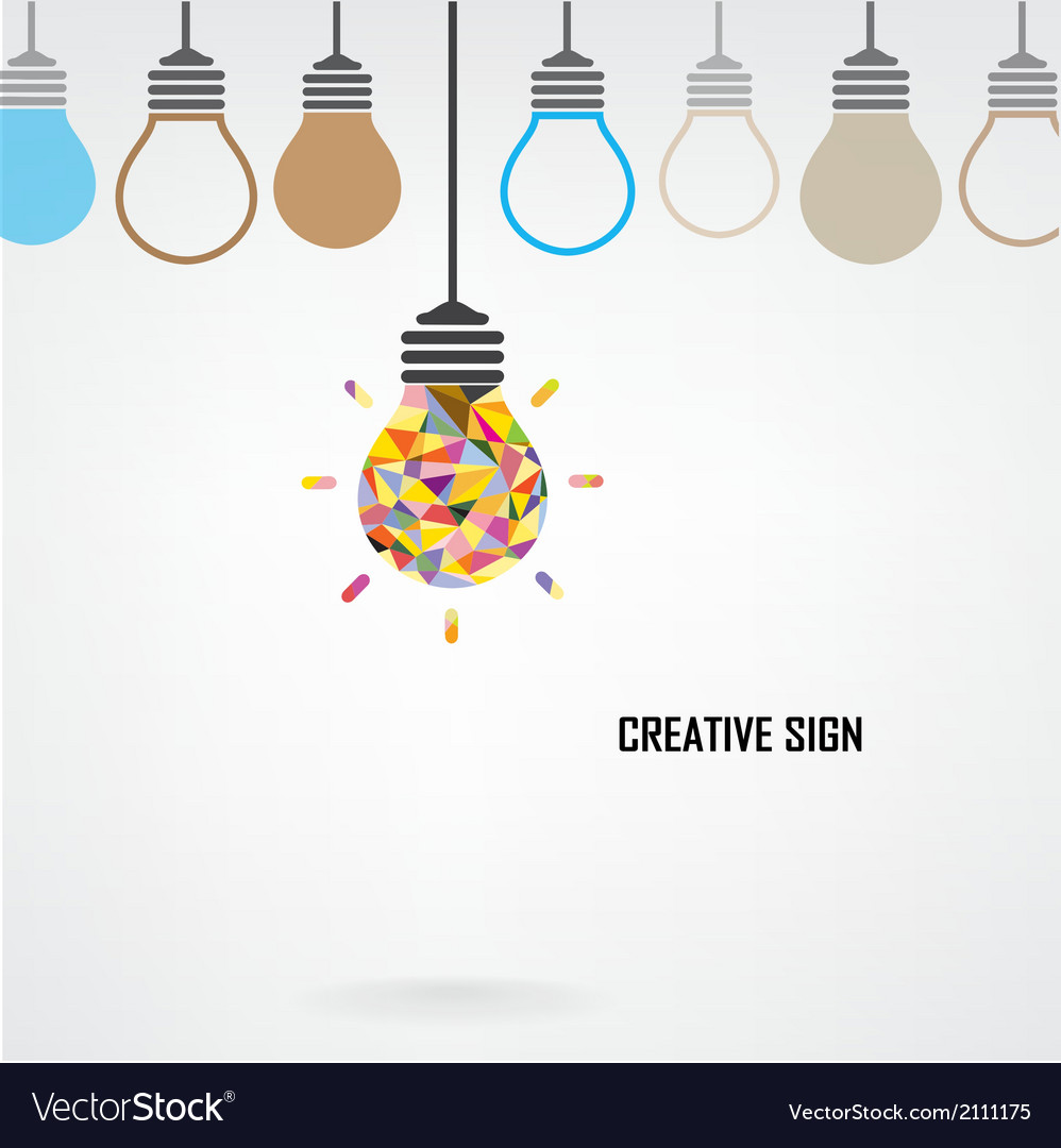 Creative light bulb Idea concept background design Vector Image by ...