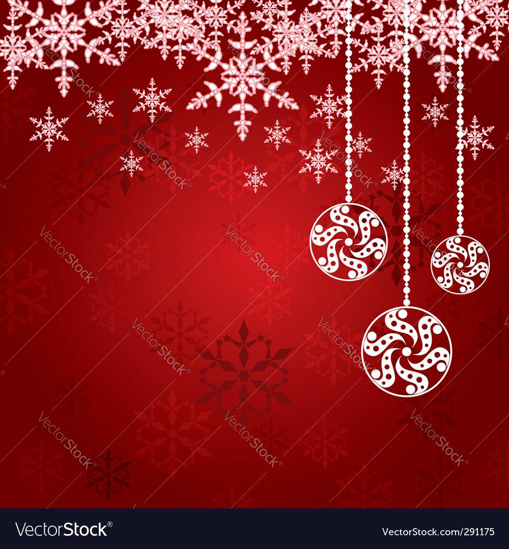 Balls for Christmas tree snowflake vector image