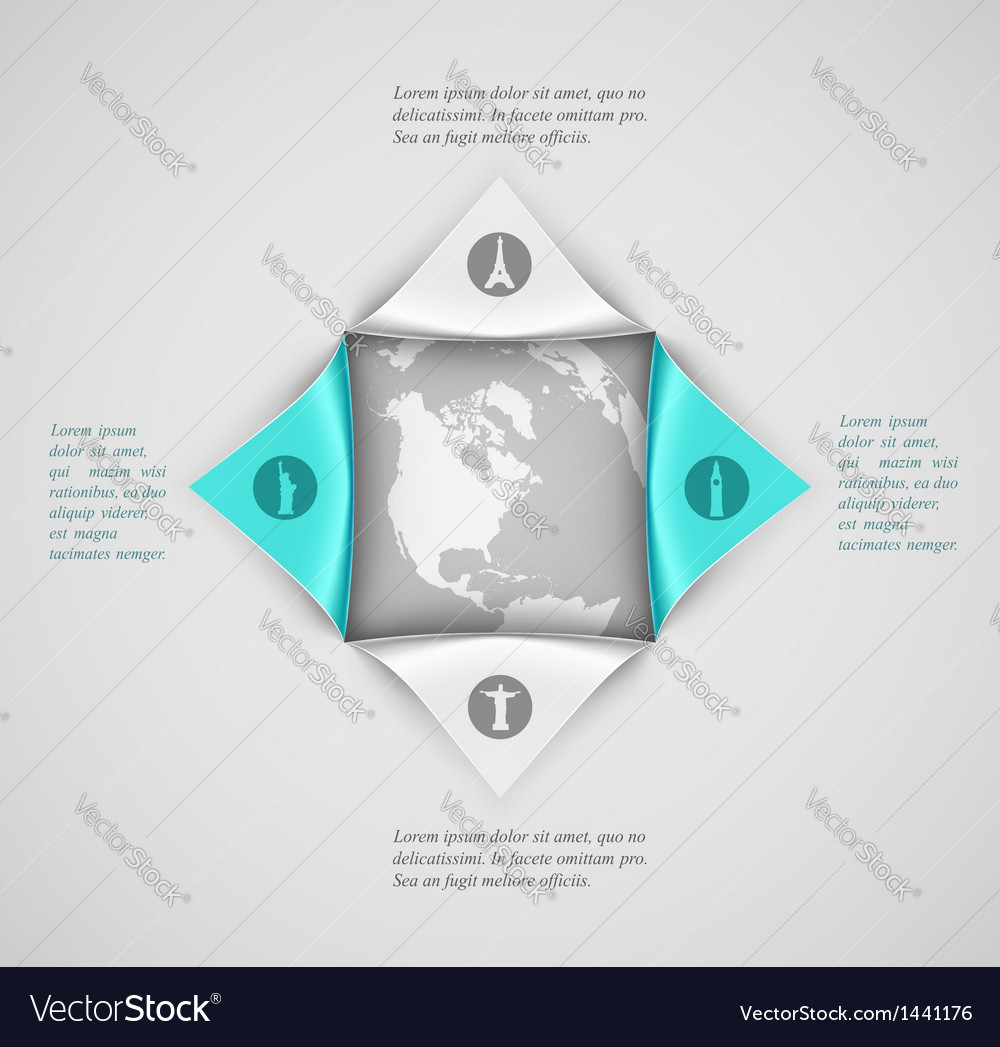 Banner travel vector image