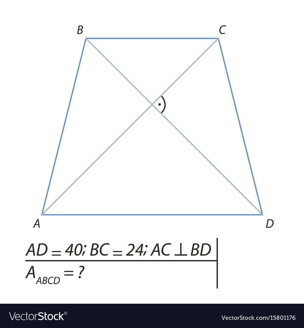 Finding the area of a trapezoid abcd-01 vector image