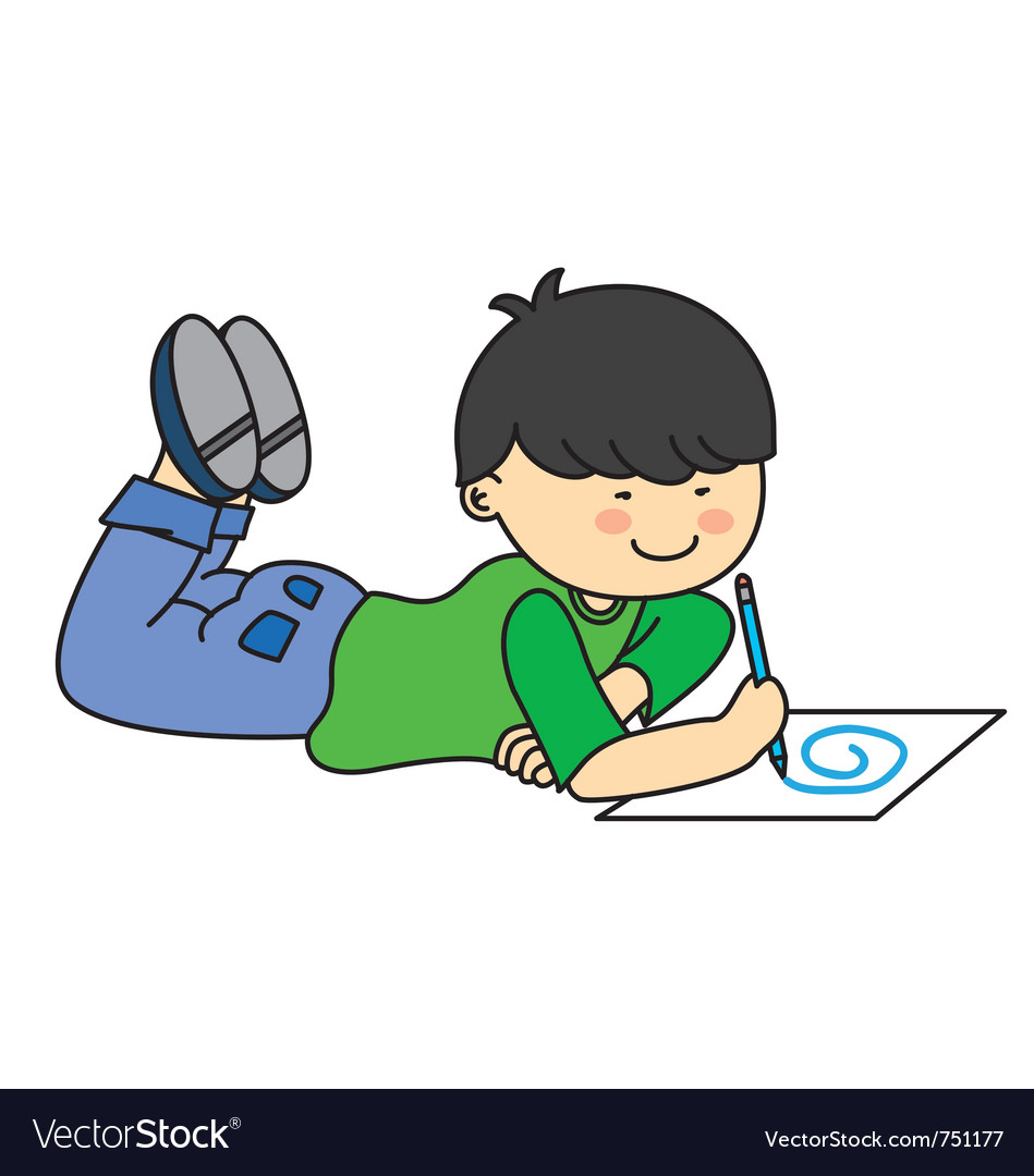Child drawing royalty free vector image vectorstock for Free online drawing