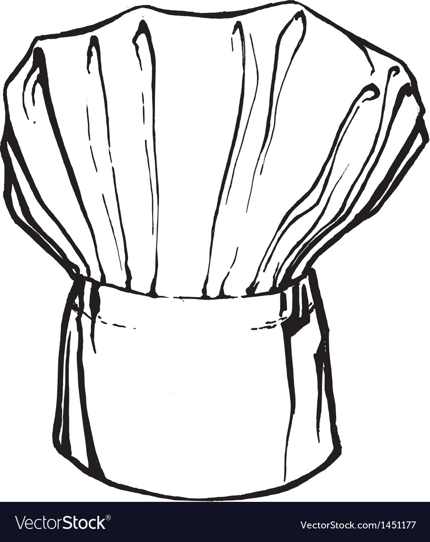Hat of chef vector image