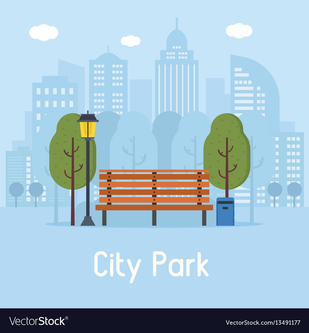 Public city park vector image